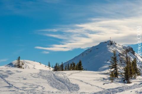 Foto Gipfelblick Grießenkar Flachau-Wagrain im Winter