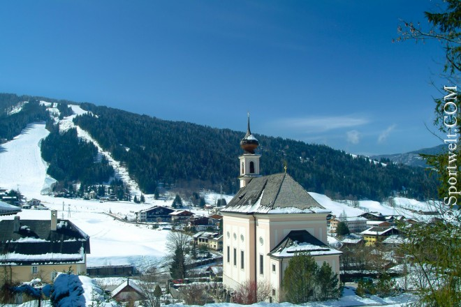 Foto Flachau Kirche im Winter